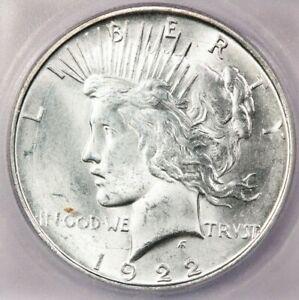 1922-D 1922 Peace Dollar ICG MS62 Flashy!