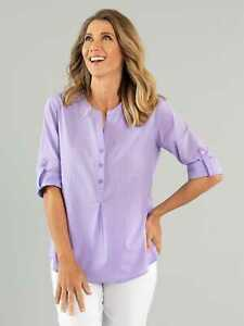 Black Pepper Womens Alessia 3/4 Sleeve Shirt