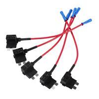 5Pcs Add Circuit Medium Piggy Back Tap Standard ATO ATC Blade Fuse Box Holder