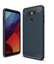 For LG G6 Carbon Fiber Armor Cover Soft TPU Heavy Duty Hybrid Phone Case