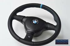 STEERING WHEEL BMW E36 E31 E34 Z3 M3 MT2 Leather BLUE STRIP small 370 KBA70139