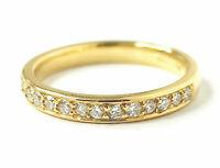 Diamond Half Eternity Ring 18ct Yellow Gold 0.45ct approx. 2.5mm Hallmarked
