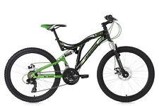 Mountainbike Fully 24'' Nice Kinder MTB schwarz-grün RH 43 cm 130K