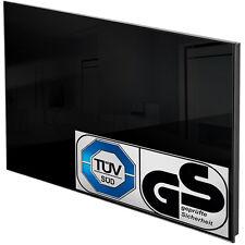 Chauffage infrarouge en verre electrique 650 watt radiant radiateur IP44 noir