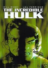 THE INCREDIBLE HULK - BILL BIXBY & LOU FERRIGNO AUTOGRAPH SIGNED PP PHOTO POSTER