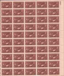 US Stamp - 1947 Doctors - 50 Stamp Sheet - Scott #949