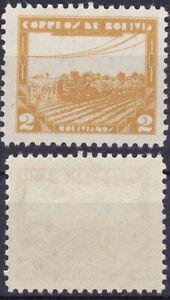 Bolivia 1938 2Bs. Modern Agriculture Sc-250 Ochre MVLH  - US Seller