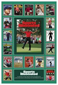 """Sports Illustrated Tiger Woods 8.5""""x11"""" Commemorative Cover Collage Poster ⛳🏌🏿"""