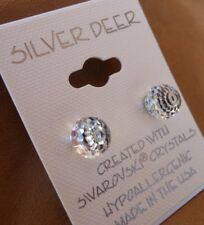 Faceted Ball HYPOALLERGENIC Stud Earrings Swarovski Elements Crystal in Clear