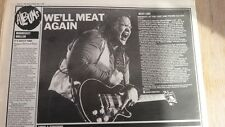 MEAT LOAF Midnight At Lost & Found review 1983 UK ARTICLE / clipping
