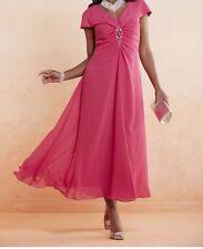 Ladies Ashro Lynella Formal Dress  Raspberry Pink Fully Lined Plus 18W