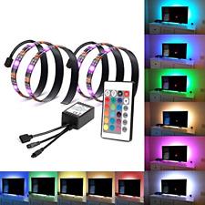 Retroilluminazione LED TV Bias Luce Striscia per HDTV ALIMENTAZIONE USB 2 RGB con telecomando