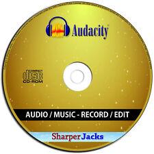 NEW & Fast Ship! Audacity - Sound Studio Audio Recording - MP3 Music Editing PC
