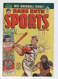 Babe Ruth Sports Comics 9 Harvey 1950 FN VF Stan The Man Musial Casey Stengel
