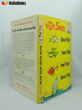 One Fish Two Fish Red Fish Blue Fish Dr. Seuss First Edition 1960 dust jacket