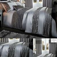 Velvet Band Luxury Grey Bedding. Duvet Sets. Throws. Eyelet Curtains. Cushion
