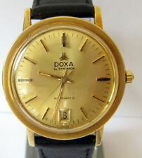 VINTAGE*DOXA SYNCHRON 55*GOLD PLATED SWISS MEN'S AUTOMATIC WATCH,SERVICED # 493