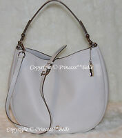 NWT COACH 36026 Nomad Hobo Leather Shoulder Bag Tote Purse Chalk $495