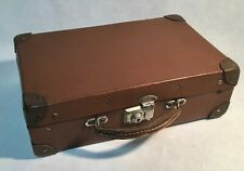 Antique vintage little brown suitcase koffer valise extremely RARE