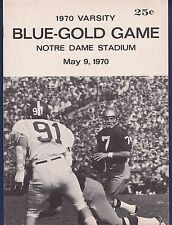 Notre Dame football Blue vs Gold Varsity game program collection 12-different