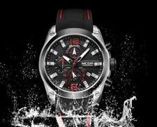 9a98ac32692c Reloj deportivo Megir cronógrafo completo día correa de silicona azul WR