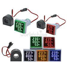 3 In 1 Ac 60 500v 0 100a Voltmeter Ammeter Led Light Digital Volt Amp Meter 22mm
