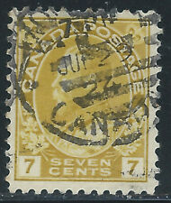 Canada #113(6) 1912 7 cent yellow ochre KING GEORGE V MONTREAL QUEBEC CV$5.00