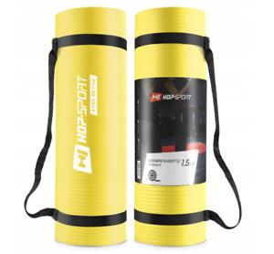 Fitness Yoga Mat Exercise Hop-Sport 183x61x1.5 NBR Rubber Foam Thick Waterproof