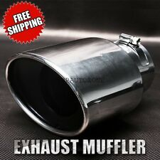 Silver Chrome 2012CRV Truck Tail Throat Pipe Exhaust Pipe Trim Tips Muffler Pipe