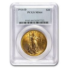 1914-D $20 Saint-Gaudens Gold Double Eagle MS-64 PCGS - SKU #17201