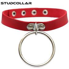 STUDCOLLAR-CHOKER - Black or Red PU Leather Gothic Punk Neck Collar Necklace