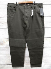 Akademiks Jeans Mens Size 44X32 Olive Green Stretch Moto Slim Fit Thin Jeans New