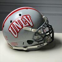 UNLV Rebels GAME USED - Schutt XP NCAA Football Helmet - Univ Nevada Las Vegas