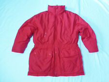 WOMENS EDDIE BAUER RED GOOSE DOWN FILLED LIGHT WINTER COAT / JACKET -SIZE M