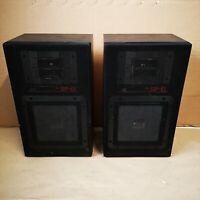 Vintage JVC Black Hifi Speakers SP-E1BK 40W