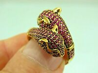 Turkish Handmade Jewelry 925 Sterling Silver Ruby Stone Women Ring Sz 8