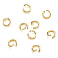 200x Golden Stainless Steel Open Jump Ring Metal Connector For DIY Craft 5x0.8mm