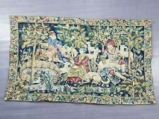 Vintage French Medieval Scene Wall Hanging Tapestry (111X66cm)