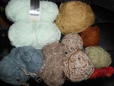 600G Mix Lot Knitting Wool Yarn Craft Crochet Boucle Pale Green Job Brown Grey