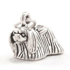 3D PEKINGESE Peke Dog 925 Charm Pendant solid .925 STERLING SILVER Nice detail
