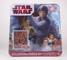Disney Star Wars Collectors Puzzle Set 500 PC Foil Puzzle & 300 PC Poster Puzzle