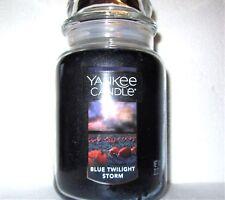 "Yankee Candle ""BLUE TWILIGHT STORM"" ~ Fresh ~ Large 22 oz.~ TAN LABEL ~ NEW"