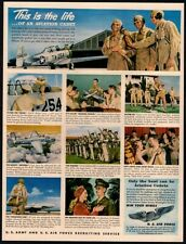 1949 U.S. ARMY Recruitment -Life of an Aviation Cadet- Pilots- March- VINTAGE AD