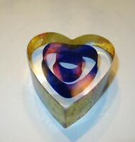 KOSTA BODA PAPERWEIGHT 'MY HEART' BY BERTIL VALLIEN SWEDISH ART GLASS
