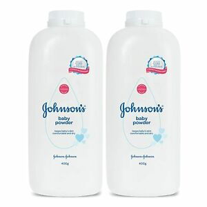 Baby Powder For Baby's Soft Skin (2x400g) From Johnson's Free Shp Worldwide