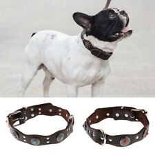 Pet Diamond Leather Collar Puppy Medium Large Dog Neck Strap Pets Suppies Gifts
