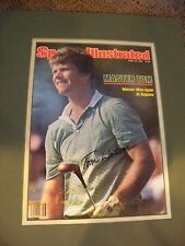 TOM WATSON AUTOGRAPHED SPORTS ILLUSTRATED COVER 1981