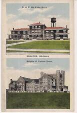 Multiview Knights of Pythias Old Folks Home/ Home DECATUR ILLINOIS IL Postcard