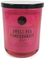 DW Home Richly Scented Large 2-Wick 15.1oz Glass Candle - Sweet Pea Pomegranate