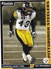 TROY POLAMALU FATHEAD TRADEABLES PITTSBURGH STEELERS USC TROJANS STICKER 2008